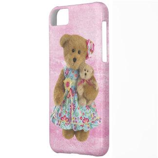 Oso de peluche lindo de Momma con el oso del bebé Funda Para iPhone 5C