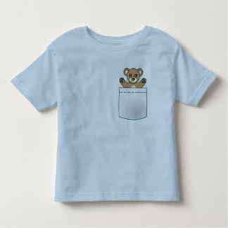 Oso de peluche lindo del bolsillo - camiseta camisas