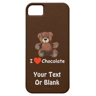 Oso de peluche lindo del chocolate del corazón de iPhone 5 funda