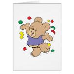 oso de peluche lindo del tiempo del fiesta del con felicitacion