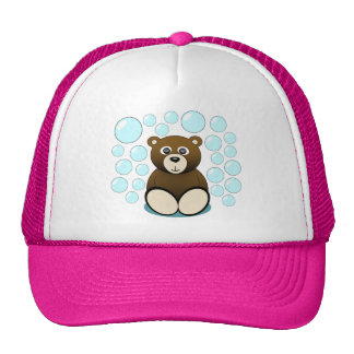 oso de peluche lindo en burbujas gorros