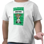 Oso de peluche lindo personalizado del fútbol (blk camiseta