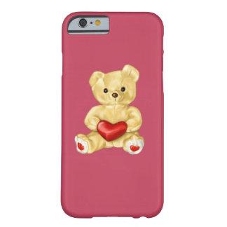 Oso de peluche lindo que hipnotiza rosado funda de iPhone 6 barely there