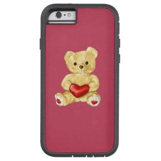 Oso de peluche lindo que hipnotiza rosado funda para  iPhone 6 tough xtreme