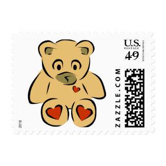 Oso de peluche lindo sellos postales