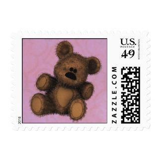 Oso de peluche lindo timbre postal