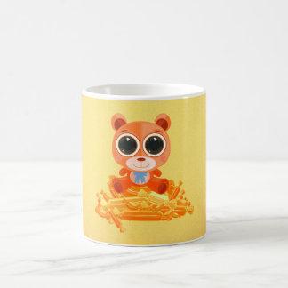 Oso de peluche - naranja del caramelo taza clásica