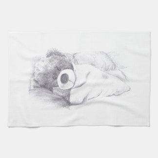Oso de peluche perezoso, soñoliento toallas