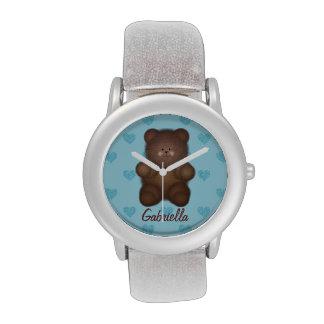 Oso de peluche personalizado con el reloj de los