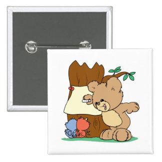 oso de peluche que juega la escuela que enseña a l pin cuadrado