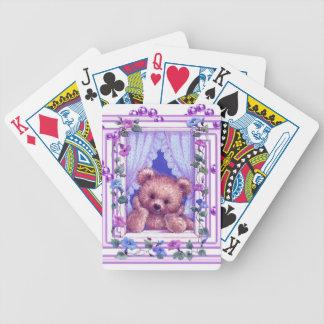 Oso de peluche que soña despierto baraja cartas de poker