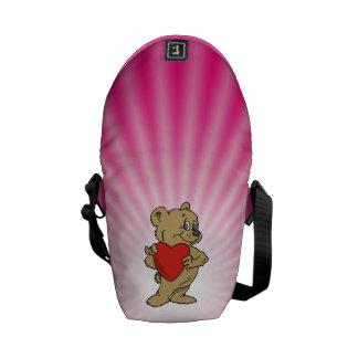 Oso de peluche rosado bolsas de mensajeria