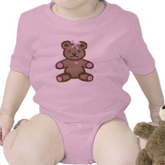 Oso de peluche rosado camisetas