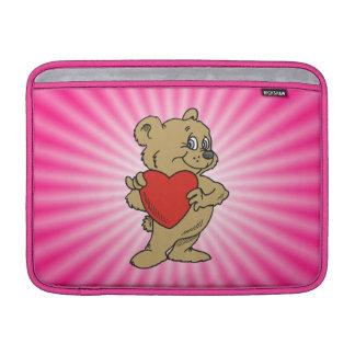 Oso de peluche rosado funda macbook air