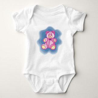 Oso de peluche rosado mimoso mameluco de bebé
