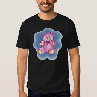 Oso de peluche rosado mimoso playera