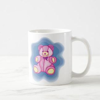 Oso de peluche rosado mimoso taza clásica
