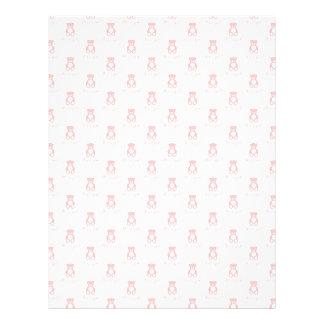 """Oso de peluche y papel rosados de Scrapbooking del Folleto 8.5"""" X 11"""""""