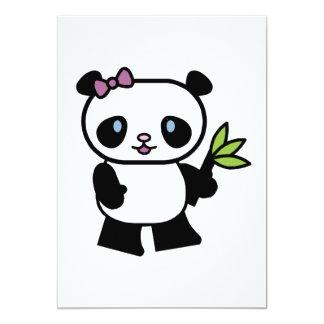 """oso de pequeño panda lindo invitación 5"""" x 7"""""""