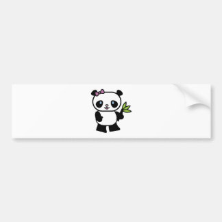 oso de pequeño panda lindo pegatina para auto