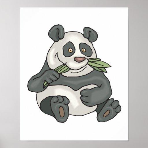 oso de pequeño panda rechoncho póster
