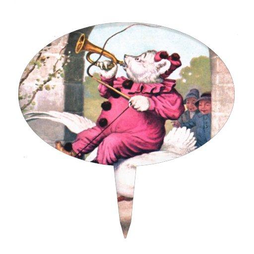 Oso de Roosevelt como montar a caballo del payaso  Decoración Para Tarta