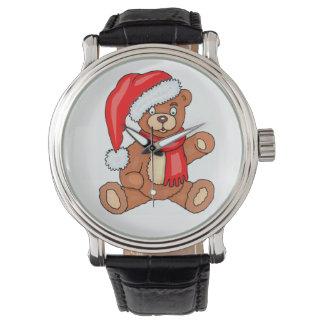 Oso de Santa del navidad de DIY Reloj De Mano