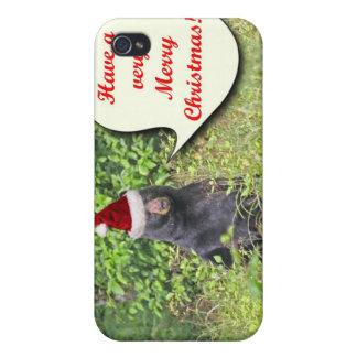 Oso de Santa deseándole Felices Navidad iPhone 4 Cobertura