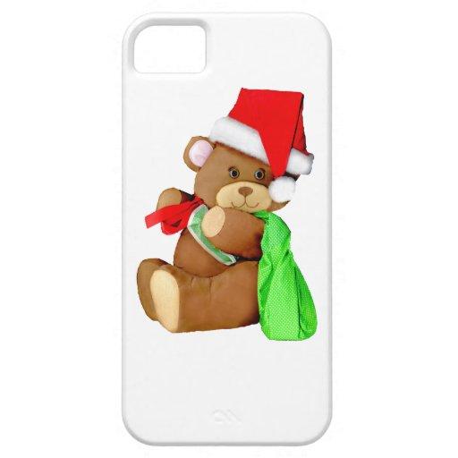 Oso de Santa que entrega chucherías iPhone 5 Cárcasas