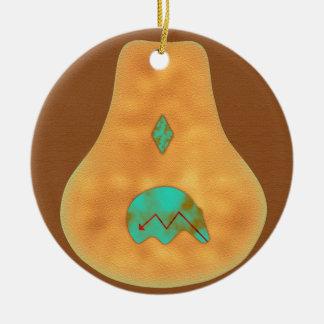 Oso de Zuni de la turquesa del nativo americano Ornamentos Para Reyes Magos