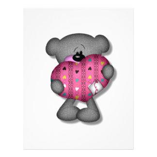 oso del amor de los corazones del garabato tarjeta publicitaria
