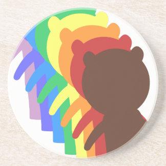 Oso del arco iris posavasos diseño