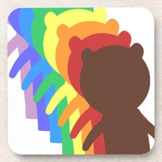 Oso del arco iris posavasos