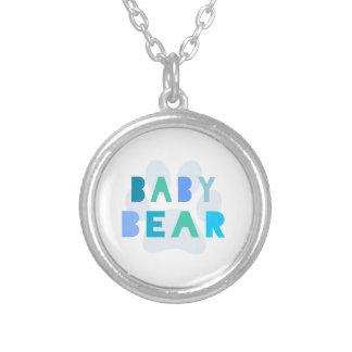 Oso del bebé - azul colgante personalizado