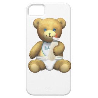 Oso del bebé - azul funda para iPhone SE/5/5s