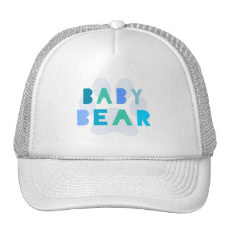 Oso del bebé - azul gorros bordados
