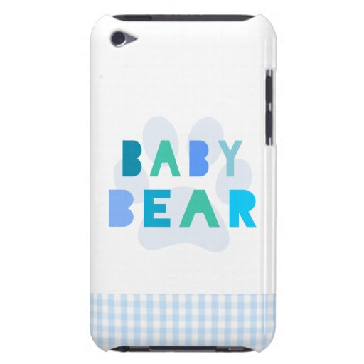 Oso del bebé - azul iPod Case-Mate carcasas