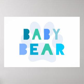 Oso del bebé - azul impresiones
