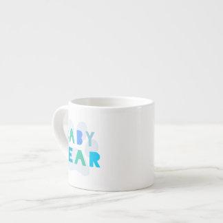 Oso del bebé - azul taza espresso