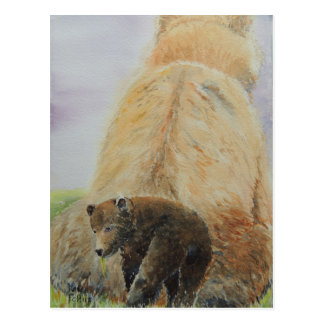 Oso del bebé con mamá Bear Postal