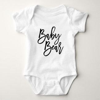 Oso del bebé mameluco de bebé