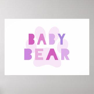 Oso del bebé - rosa posters