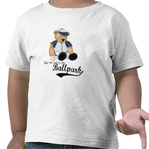oso del béisbol camisetas