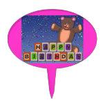 oso del bloque del cumpleaños figura de tarta