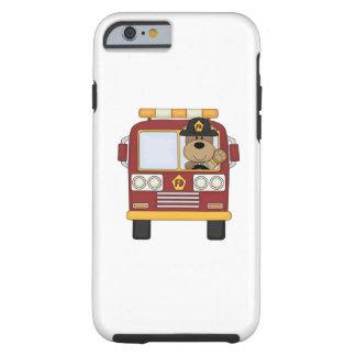 Oso del coche de bomberos funda de iPhone 6 tough