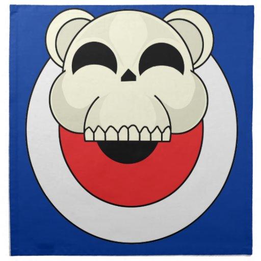 Oso del cráneo servilletas imprimidas