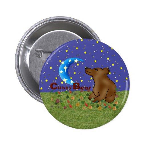 Oso del Cubby Pin Redondo 5 Cm