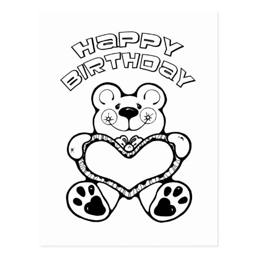 Oso del cumpleaños postales