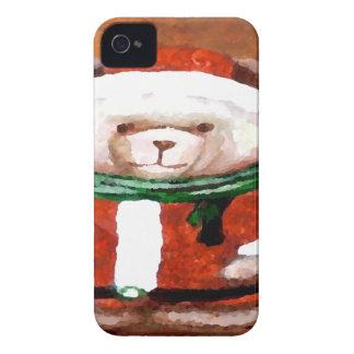 Oso del día de fiesta de la diversión del navidad iPhone 4 Case-Mate carcasa