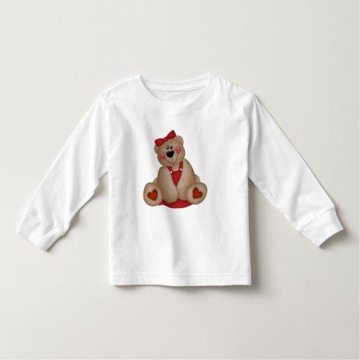 Oso del el día de San Valentín de los niños Camisas